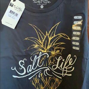 Salt Life Tops - Woman's Salt Life pineapple tank Top size small